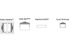 yatak odas Free Dxf for CNC