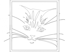 gato 2(cat) Free Dxf for CNC
