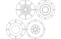 circles 4-4 Free Dxf for CNC