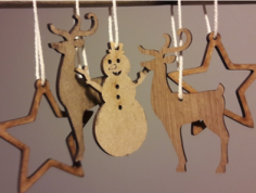 aa xmas decoration Free Dxf for CNC