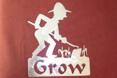 gardener grow Free Dxf for CNC
