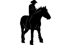 cowboy on horse 2 Free Dxf for CNC