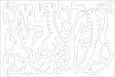 3d dino Free Dxf for CNC