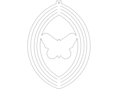 wind spin butterfly Free Dxf for CNC