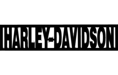 harley davidson word Free Dxf for CNC