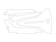 space-shuttle-simplified Free Dxf for CNC