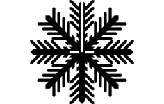 snowflake a Free Dxf for CNC