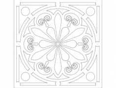 circle ornament Free Dxf for CNC