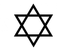 star of david Free Dxf for CNC