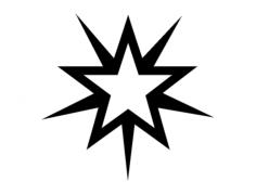 starburst 2 wt Free Dxf for CNC