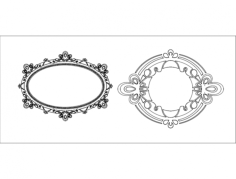 mirror frame ayna Free Dxf for CNC