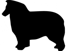 aussie dog Free Dxf for CNC