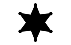 star badge Free Dxf for CNC