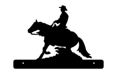 horse cowboy plate Free Dxf for CNC