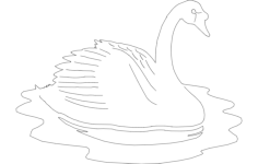 swan details Free Dxf for CNC