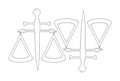 2 balança da justica49x52 Free Dxf for CNC