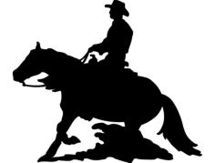 cavalo e calaleiro Free Dxf for CNC