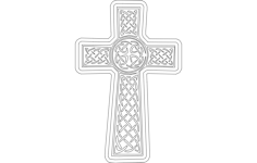 church cross Free Dxf for CNC