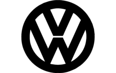 vw logo Free Dxf for CNC