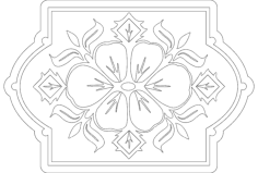 floral pattern Free Dxf for CNC