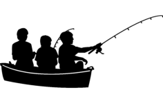 fishing 6 Free Dxf for CNC