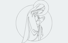 virgin-mary Free Dxf for CNC