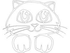 gato 3(cat) Free Dxf for CNC