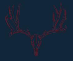 deer-skull Free Dxf for CNC