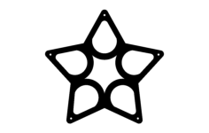 wine rack star Free Dxf for CNC