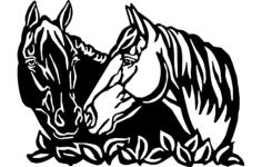 horses art Free Dxf for CNC