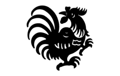 rooster 4 Free Dxf for CNC