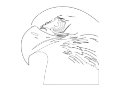 eagle head (1) Free Dxf for CNC
