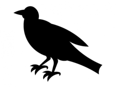 crow silhouette Free Dxf for CNC