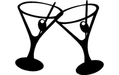 martini cocktail Free Dxf for CNC