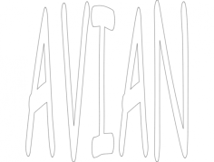 avian 12×12 Free Dxf for CNC