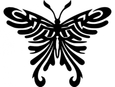 tribal butterfly Free Dxf for CNC
