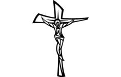 jesus cross modern Free Dxf for CNC