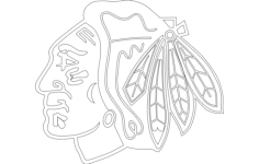 chi-town hawk (chicago blackhawks) Free Dxf for CNC