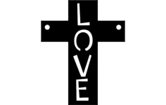 love cross Free Dxf for CNC