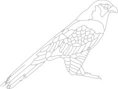 bird sitting 2 Free Dxf for CNC