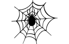 spider and the web Free Dxf for CNC