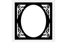 frame oval Free Dxf for CNC