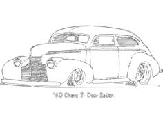 chevy 2 portas sedan Free Dxf for CNC