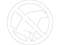 dog -do not poop sign Free Dxf for CNC