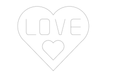 love single line Free Dxf for CNC