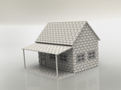 little house 3mm Free Dxf for CNC