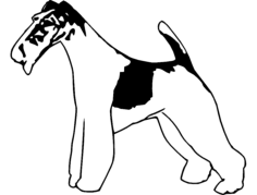 wire fox terrier 2 Free Dxf for CNC