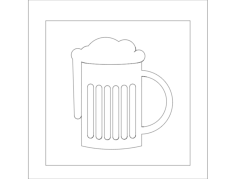frothy beer Free Dxf for CNC