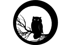 halloween owl Free Dxf for CNC