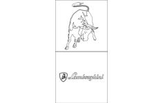 lamborghini logo 2 Free Dxf for CNC